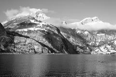 阿尔卑斯瑞士 到圣诞节的旅途 库存图片