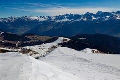 阿尔卑斯的全景在蒂罗尔 库存照片