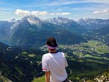 阿尔卑斯的视图 免版税库存图片