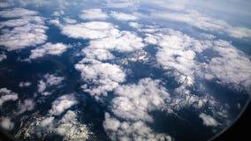 阿尔卑斯积雪覆盖的峰顶 库存照片