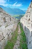 阿尔卑斯第一个设防战争世界 库存图片