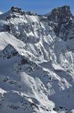 阿尔卑斯表面西方rosablanche的瑞士 免版税图库摄影