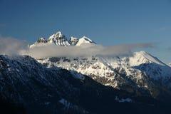 阿尔卑斯视图冬天 免版税库存图片