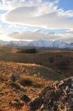 阿尔卑斯金黄小山 库存照片
