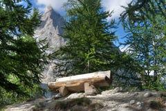 阿尔卑斯长凳意大利语 免版税库存图片