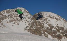 阿尔卑斯雪板运动 免版税库存照片