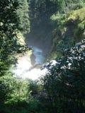 阿尔卑斯顶视图瀑布 库存照片