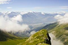 阿尔卑斯风景。 免版税图库摄影