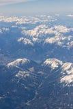 阿尔卑斯鸟瞰图 免版税图库摄影