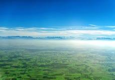 阿尔卑斯鸟瞰图 免版税库存图片