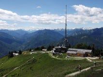 阿尔卑斯,在洛枷诺瑞士附近 免版税库存图片