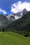 阿尔卑斯,夏慕尼 免版税库存照片