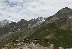 阿尔卑斯,法国意大利边界, 2017年7月29日-壮观的图t 图库摄影