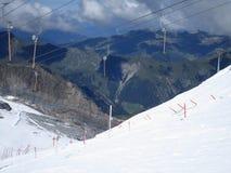 阿尔卑斯-在夏天下雪在奥地利 图库摄影