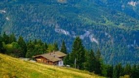 阿尔卑斯4的全景 库存图片