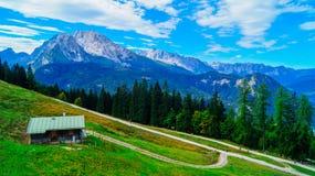 阿尔卑斯6的全景 库存照片