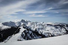 阿尔卑斯滑雪倾斜 库存图片