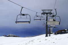 阿尔卑斯滑雪倾斜 免版税库存图片