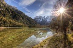 阿尔卑斯- Lago di Landro 库存照片