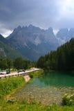 阿尔卑斯ampezzo肾上腺皮质激素d意大利山 免版税库存图片