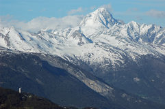 阿尔卑斯bietschhorn瑞士 免版税库存图片