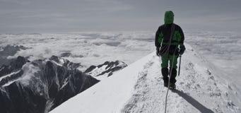 阿尔卑斯blanc mont山顶层 库存照片