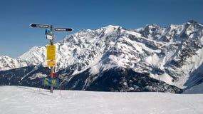 阿尔卑斯chamonix定向法国符号 免版税库存图片