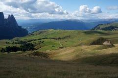 阿尔卑斯de siusi和schlern峰顶 库存图片