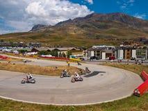 阿尔卑斯dHuez Supermotard 库存照片