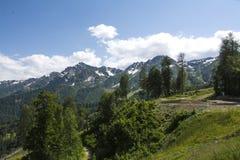 阿尔卑斯hochries山景 免版税库存图片
