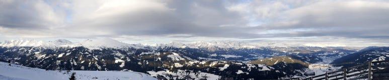 阿尔卑斯katschberg全景 库存照片