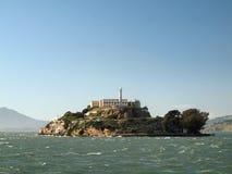 阿尔卡特拉斯岛在一好天儿 免版税库存图片