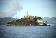 阿尔卡特拉斯岛在旧金山,加利福尼亚 图库摄影