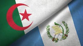 阿尔及利亚和危地马拉两旗子纺织品布料,织品纹理 皇族释放例证