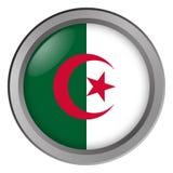 阿尔及利亚回合旗子作为按钮 向量例证