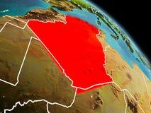 阿尔及利亚在从轨道的早晨 向量例证