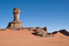 阿尔及利亚横向山撒哈拉大沙漠 库存照片