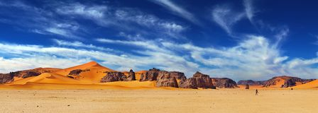 阿尔及利亚沙漠撒哈拉大沙漠 库存图片