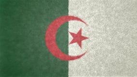 阿尔及利亚的旗子的原始的3D图象 免版税库存照片
