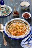 阿尔及利亚的bissara浓豌豆汤 免版税库存图片