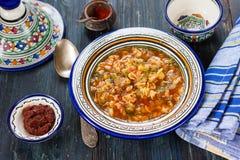 阿尔及利亚的bissara浓豌豆汤 免版税库存照片