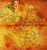 阿尔及利亚老标志映射 库存图片