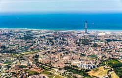阿尔及尔鸟瞰图,阿尔及利亚的首都 免版税库存图片