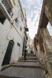 阿尔及尔,阿尔及利亚- 2016年2月6日:老市的一个古老部分阿尔及利亚,称casbahkasaba 老城市是122米400 ft abov 免版税库存图片