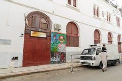 阿尔及尔,阿尔及利亚- 2016年2月6日:老市的一个古老部分阿尔及利亚,称casbahkasaba 老城市是122米400 ft abov 库存图片