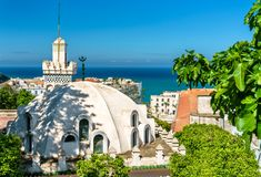 阿尔及尔,阿尔及利亚Casbah的Sidi Abder拉赫曼清真寺  免版税库存照片