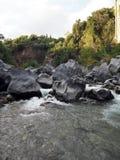 阿尔坎塔拉峡谷在西西里岛 免版税库存照片