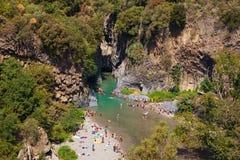 阿尔坎塔拉峡谷 库存照片