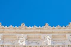 阿尔塔雷della帕特里亚,威尼斯广场,罗马意大利门面  库存照片