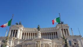 阿尔塔雷della帕特里亚,威尼斯广场,罗马意大利 库存照片